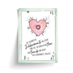 Postkarte Herz