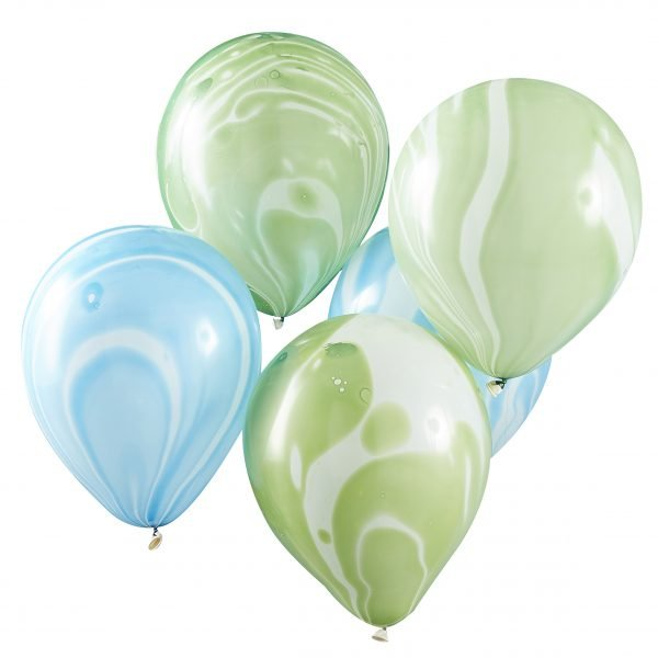 Marmor Ballons blau grün