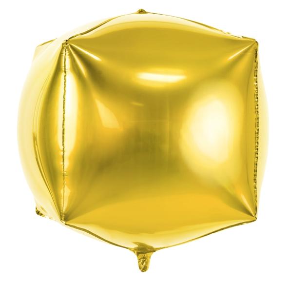 Quadratballon gold