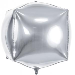 Quadratballon silber