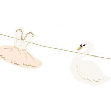 Schwan Girlande mit Ballerina
