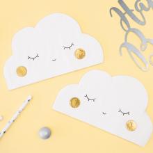 Wolken Servietten