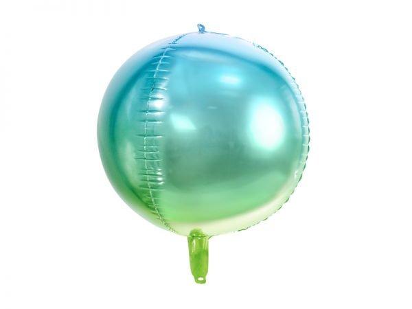 Kugelballon blau grün ombre