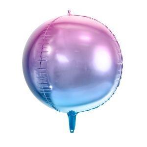 Kugelballon blau lila ombre