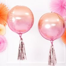 Kugelballon pink apricot ombre