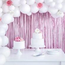 Party Vorhang rosa matt