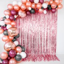 Party Vorhang rose glänzend