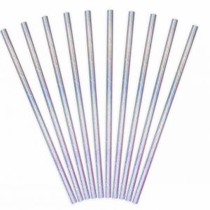 Strohhalme silber metallic