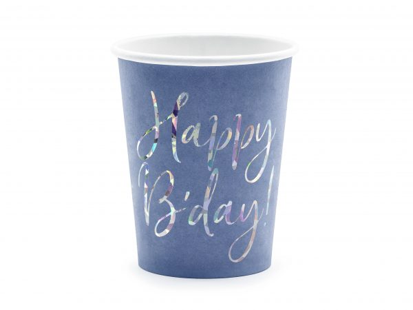 Becher blau B-day
